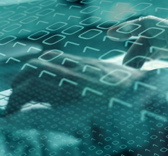Computer espionage in global internet network, binary data flow